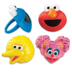 Black Friday 2014 Sesame Street Cake Cupcake Decoration Favors 1 Dozen Rings from Oasis Supply Cyber Monday Sesame Street Cupcakes, Sesame Street Cake, Sesame Street Birthday, Elmo Birthday, 2nd Birthday Parties, Birthday Party Favors, Birthday Ideas, Birthday Cakes, Elmo Party