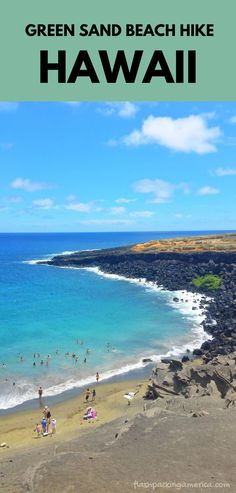 best hawaii hikes. things to do in hawaii. hawaii vacation ideas in the US. hawaii beaches. outdoor travel destinations Hawaii Hikes, Hawaii Vacation, Hawaii Travel, Beach Trip, Hawaii Volcanoes National Park, Volcano National Park, Green Sand Beach, Hiking Essentials, Travel Destinations Beach