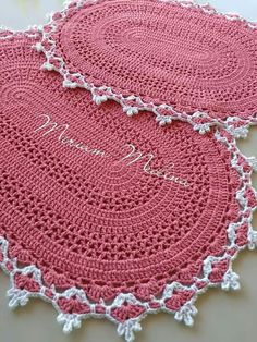 Crochet Table Mat, Crochet Mat, Crochet Rug Patterns, Crochet Carpet, Crochet Rope, Crochet Shoes, Crochet Doilies, Crochet Bobble, Knit Rug