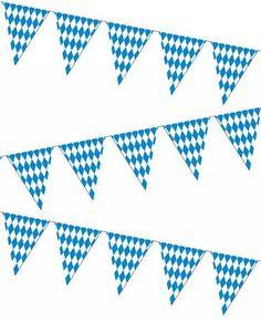 Oktoberfest Bavarian Pastic Flag Pennant Banner 12 Feet