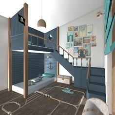 Galériaszerű emeletes ágy Loft, Bed, Modern, Furniture, Design, Home Decor, Trendy Tree, Decoration Home, Stream Bed