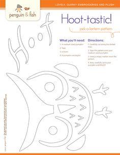 Penguin & Fish: Free Pumpkin Carving Pattern!