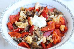 Ζεστή σαλάτα λαχανικών