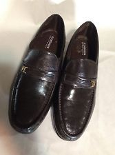 Florshiem Comfortech Brown Slip On Leather Loafers Dress Shoes Size 10