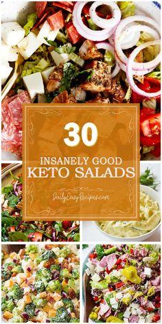 "To make the salad menu of your family more diverse, we're happy to share 30 crazy good keto salads in today's post. Saving their recipes, and you have amazing ideas to ""pamper"" your love for salads. For those who are on keto and low-carb diets, these Low Carb Recipes, Diet Recipes, Healthy Recipes, Beste Cocktails, Clean Eating, Healthy Eating, Calorie Intake, Low Carb Diet, Keto Dinner"