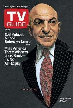 Telly Savalas as KOJAK - 1974 - TV GUIDE