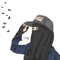 Muslim Pictures, Islamic Pictures, Muslim Girls, Muslim Women, Girl Cartoon, Cartoon Art, Hijab Drawing, Moslem, Ideal Girl