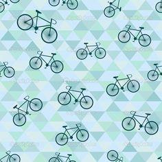 Fondo transparente con bicicleta y triángulos — Ilustración de stock #36452127