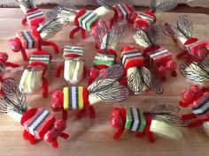 Lolly bugs we use to make these at birthday parties with mum except we used minties for the belly