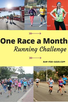 Having a race on your calendar is one of the best ways to stay motivated to keep running, so taking this One Race a Month Running Challenge can help keep you running all year long. Running Buddies, Running Club, Keep Running, How To Start Running, Running Tips, How To Run Faster, Running Challenge, Challenge S, Workout Challenge