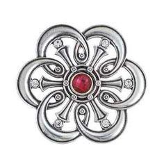 "KBB002 - Flower Belt Buckle Made from Antiqued Silver Plated Brass, you'll love this flower belt buckle! This is a great design to wear with your favorite Belt. A great accent to your favorite outfit! Width - 2.7"" Height - 2.7"""