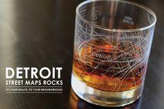Detroit Street Maps Rocks