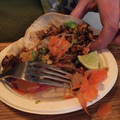 """""""Street tacos at #losmineros"""" via @themusesyndicate"""