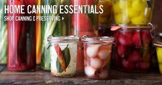 HOME CANNING ESSENTIALS! Including home canning checklist, fruit and vegetable yields chart and more!