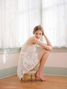 Elizabeth Messina, lace boudoir vintage