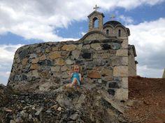 Church in Korce, Albania Kisha e Shen Ilias ne majen e malit te Moraves ne Korce!