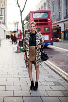 Mix animal prints for spring // #StreetStyle