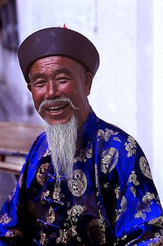 ♂ Man Portrait of a Chine man in blue by BoazImages, via Flickr