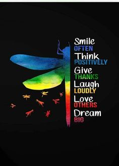 Smile often. Think positively. Give thanks. Love others. Great Quotes, Quotes To Live By, Me Quotes, Motivational Quotes, Inspirational Quotes, Good Thoughts, Positive Thoughts, Positive Vibes, Positive Quotes