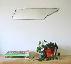 SALE / Tennessee Mirror / Wall Mirror State Outline by fluxglass, $125.00