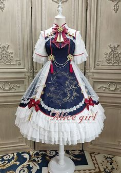 New Release: Alice Girl 【-The Garden of the Magpie-】 OP DressYou can find The oc and more on our website.New Release: Alice Girl 【-The Garden of the Magpie-】 OP Dress Cosplay Dress, Cosplay Outfits, Dress Outfits, Emo Outfits, Scene Outfits, Dress Clothes, Pretty Outfits, Pretty Dresses, Beautiful Dresses