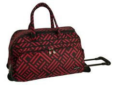 Jenni Chan Signature Deluxe Carry-All Rolling Duffel, Black/Red, One Size Jenni Chan http://www.amazon.com/dp/B00A6VGKS4/ref=cm_sw_r_pi_dp_Vof1ub1A9X4CA