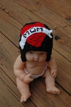 "I adore this hat!  Crochet ""Mom tatoo"" hat. on Etsy"