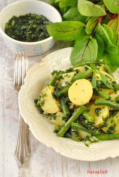 Grüner Kartoffelsalat mit Bohnen – Blitzrezept