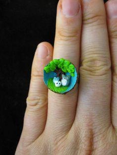Totoro ring. So freaking cute!