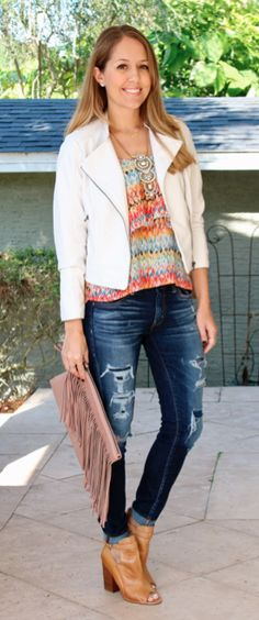 HSN jacket, clutch - look #1 of 2 by @jseverydayfash