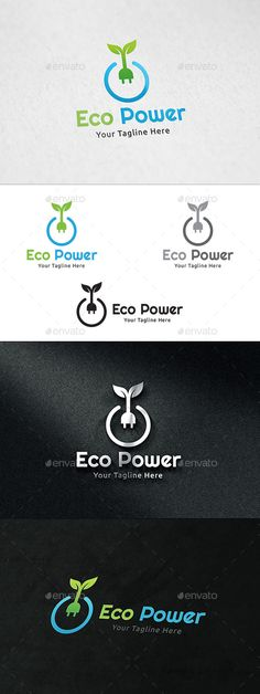 Eco Power Logo by martinjamez Logo Vector Color Variations : Gradient, Flat, Greyscale E Design, Design Elements, Logo Design, Graphic Design, Typography Logo, Logo Branding, Logo Ad, Templates Printable Free, Logo Templates