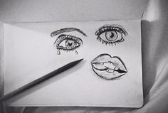 Sometimes I just like to draw eyes & lips I guess-Bethany Mota <3<<<CANT BELIEVE BETHERS DREW THIS ♡ UGGGHH SOOO BEAUTIFUL