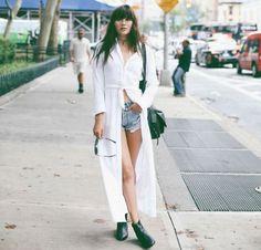 maxi camisa street style