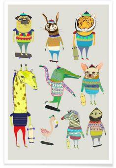 Skaters als Premium Poster von Ashley Percival | JUNIQE