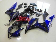 Black & Blue Flame 2007-2008 Honda CBR600RR Kings Motorcycle Fairings
