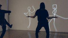 L'ego installation interactive par Klaus Obermaier Stefano DAlessio et Martina Menegon. Installation Interactive, Interactive Projection, Interactive Exhibition, Interactive Walls, Interactive Display, Video Installation, Projection Mapping, Interactive Design, Projection Installation