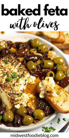 Vegetarian Recipes, Cooking Recipes, Healthy Recipes, Vegetarian Tapas, Veggie Recipes, Healthy Snacks, Baked Feta Recipe, Feta Cheese Recipes, Baked Brie Recipes