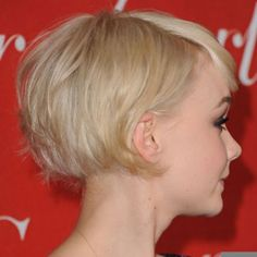 Carey Mulligan - sharp at the nape, lovely colour