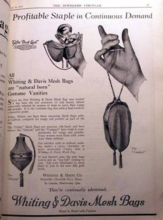 Whiting & Davis Advertisement in Jewelers Circular March 18,  1925