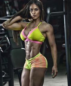 ROCK HARD DREAM PHYSIQUE of Paraguayan #Fitness model Fabiola (Fabi) Martinez : if you LOVE Health, #Fitness, Inspirational Body Goals - you'll LOVE the #Motivational designs at CageCult Fashion: http://cagecult.com/mma
