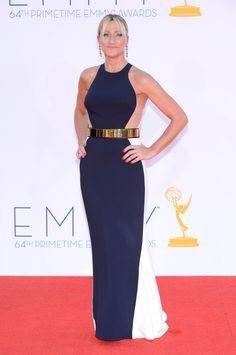 Actress Edie Falco wears Stella McCartney at the Annual Primetime Emmy Awards at Nokia Theatre L. Live on Sept. in Los Angeles. Pictures: Emmy show highlights 2012 Pictures: Emmy press room 2012 Special Section:. Nurse Jackie, Julianne Hough, Red Carpet Dresses, Blue Dresses, Stella Mccartney Dresses, Marine Uniform, The Emmys, Strapless Dress Formal, Formal Dresses