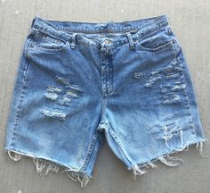 Distressed Jean Shorts,100% Cotton, Size 18,This shortshave been distressed by hand. Shortshave been washed and dried. | Shop this product here: http://spreesy.com/tomboyNchic/8 | Shop all of our products at http://spreesy.com/tomboyNchic    | Pinterest selling powered by Spreesy.com