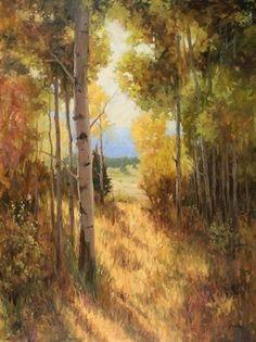 "Embracing Autumn, 48 x 36"", Oil. ©Jeanne Mackenzie"