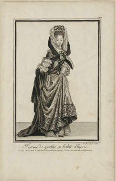 Nicolas Arnoult (actif de 1674 à 1701) - Femme de qualité en habit d'hyver, 1687 - Paris, Bibliothèque Nationale de France