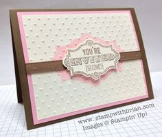 Baby shower invitations i made artwork copyright stampin up stampin up stampwithbrian handmade baby shower invitation pink brown filmwisefo