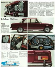 BROCHURE GIULIA SUPER 1969