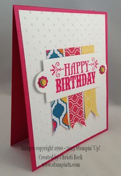 StampinTX: August Monthly Cards - Watermelon and You're Amazing Birthday