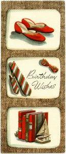 free printable digital image design resource ~ vintage masculine birthday card