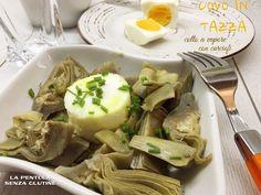 La pentola senza glutine: Uovo in tazza cotto a vapore con carciofi