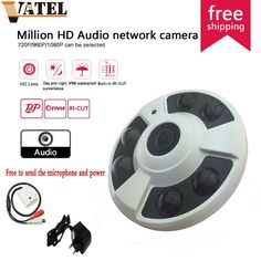 (46.99$)  Watch now - http://ai804.worlditems.win/all/product.php?id=32567364046 - 360degree panoramic 720P HD Audio IP Camera 1.0mp high-definition super wide angle fisheye probe surveillance camera monitoring